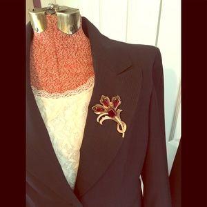 Nine West Charcoal pinstripe women's suit